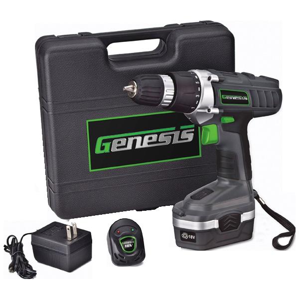 Genesis GCD18BK 18v Cordless Drill Driver Kit, Grey_2